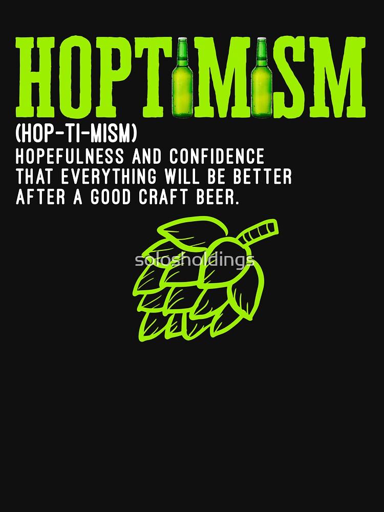 Bestseller Hoptimist mit einem Hoptimism Craft Beer von solosholdings