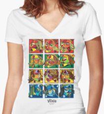 VIZAĜO Jacks, Queens & Kings Women's Fitted V-Neck T-Shirt