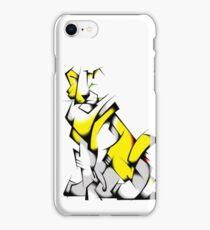 Yellow Voltron Lion Cubist iPhone Case/Skin