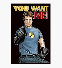 Captain Hammer - You Want Me Photographic Print