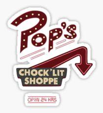 RIVERDALE POPS WHITE Sticker