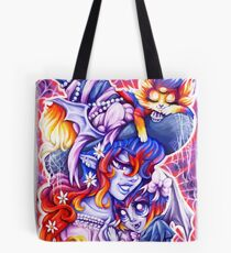 Witchy Mama and Baby Vamplette Tote Bag