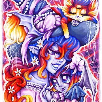 Witchy Mama and Baby Vamplette by Poofette