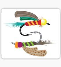Fishing Flies Sticker