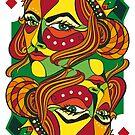 VIZAĜO - Queen of Diamonds by Annette Abolins
