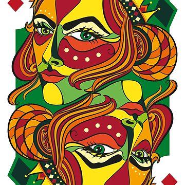 VIZAĜO - Queen of Diamonds by Frejasphere