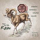 Year of the Ram Calendar (white) by Stephanie Smith