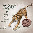 Year of the Tiger Calendar (white) by Stephanie Smith