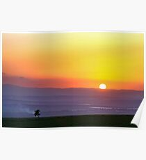 Sunset in Beit Shean Valley, Israel  Poster