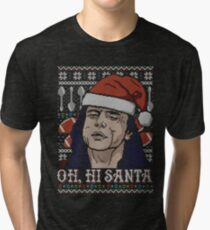 Oh Hi Santa Tri-blend T-Shirt