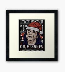 Oh Hi Santa Framed Print