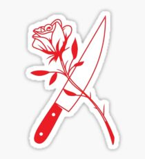knife and rose  Sticker