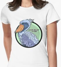 Threatened Shoe-billed stork Women's Fitted T-Shirt