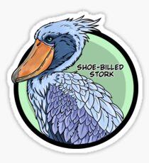 Threatened Shoe-billed stork Sticker
