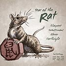 Year of the Rat Calendar (white) by Stephanie Smith