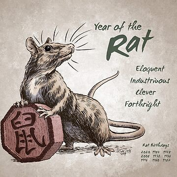 Year of the Rat Calendar (white) by stephsmith
