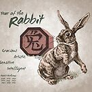 Year of the Rabbit Calendar (white) by Stephanie Smith