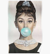 audrey hepburn bubble Poster