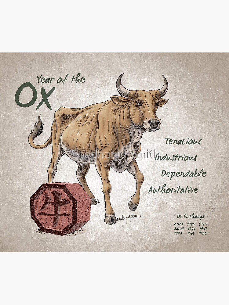 Year of the Ox Calendar (white) by stephsmith