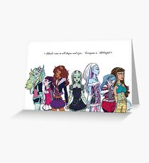 Monster High - Bootiful Ghouls Greeting Card