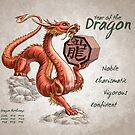Year of the Dragon Calendar (white) by Stephanie Smith
