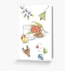For Santa Christmas Card Greeting Card