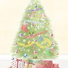 Christmas Tree Greeting Card by Amanda Francey