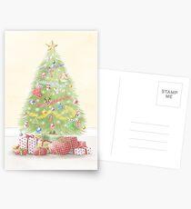 Christmas Tree Greeting Card Postcards
