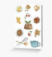 Christmas Pudding Greeting Card