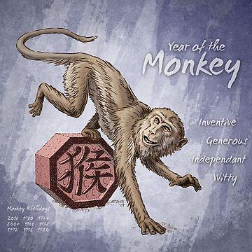Year of the Monkey Calendar by stephsmith
