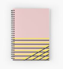 Pink Streets, Yellow Signs Spiral Notebook