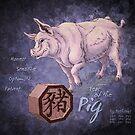 Year of the Pig Calendar by Stephanie Smith