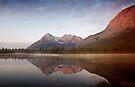 Sunrise At Whitegoat Lakes And Elliot Peak.2 by Alex Preiss