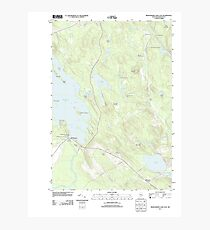 Maine USGS Historical Map Meddybemps Lake East 20110829 TM Photographic Print
