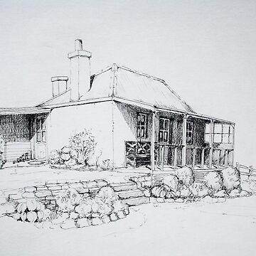 Old cottage Ross Tasmania  by Ruckrova