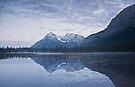 Sunrise At Whitegoat Lakes And Elliot Peak by Alex Preiss