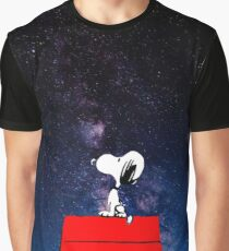 Snoopy Galaxy Nebula Graphic T-Shirt