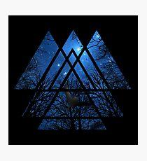 Sacred Geometry Triangles - Wisdom Of The Night Photographic Print