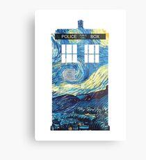 Lienzo metálico TARDIS de Van Gogh