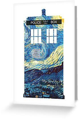 Van Gogh's TARDIS by andrealam