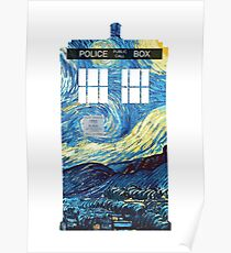 Van Goghs TARDIS Poster
