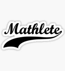 Mathlete - Funny Design Sticker