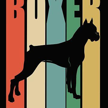 Boxer Dog Retro Design - Boxer by kudostees