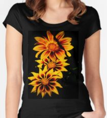 Stunning Flower Women's Fitted Scoop T-Shirt