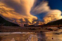 Crazy Sunset  by Valentina Gatewood