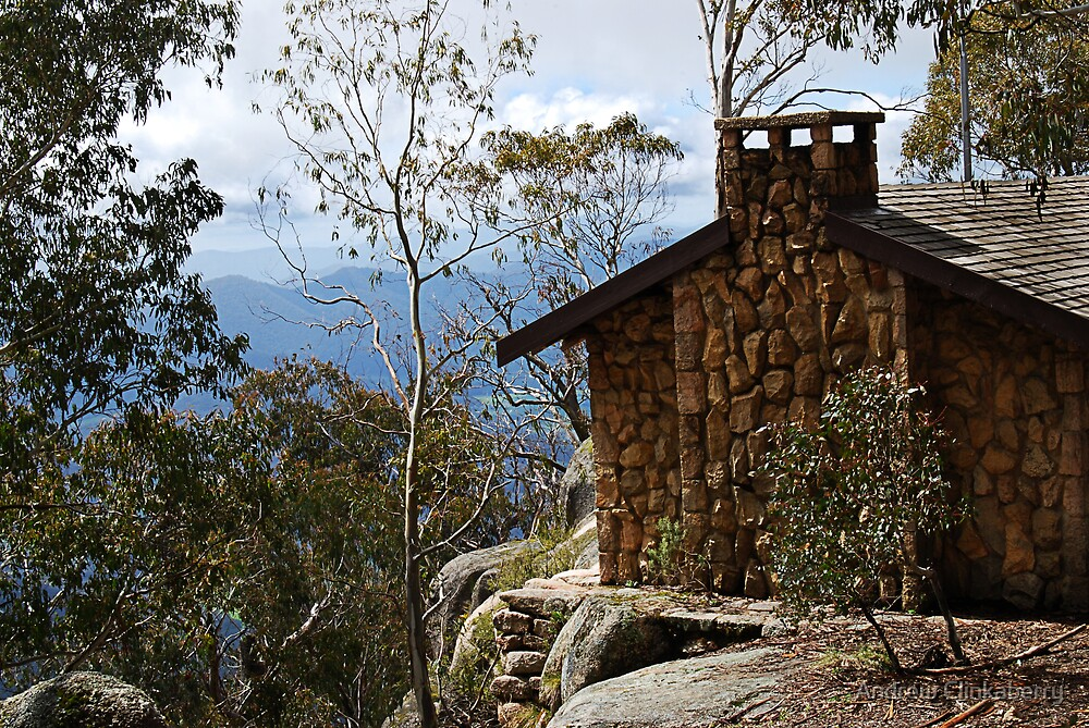Hut on Mount Buffalo by Andrew Clinkaberry