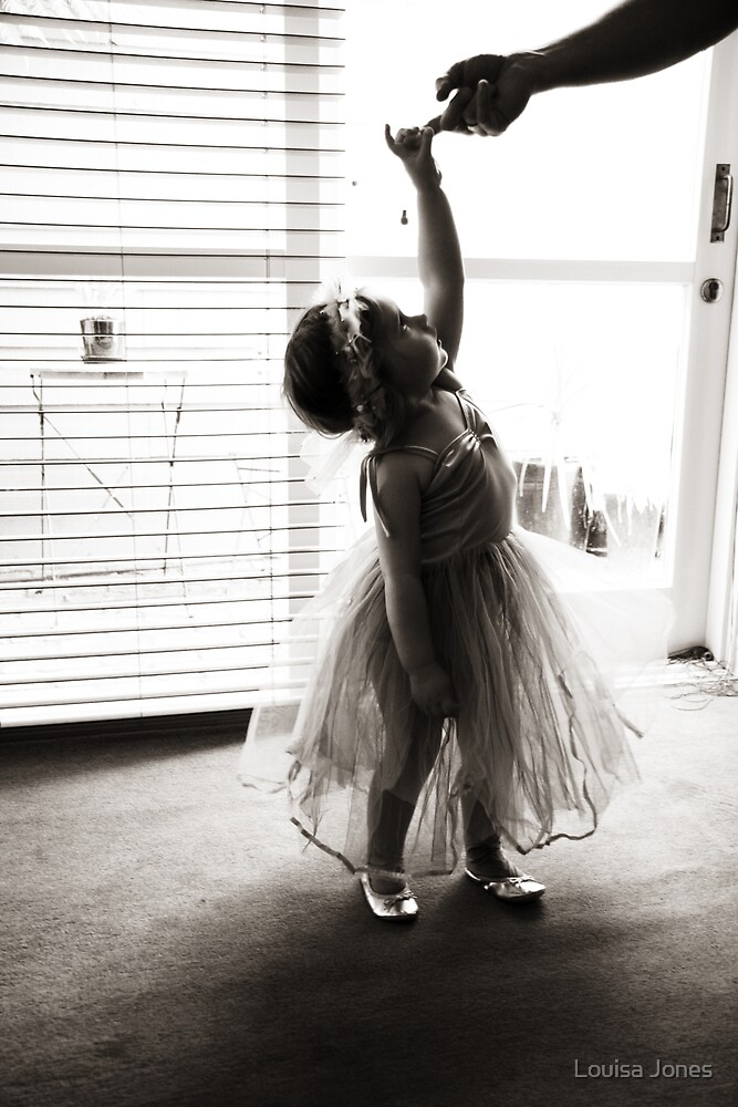 dancing flower girl by Louisa Jones