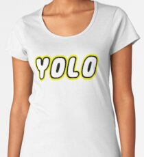 YOLO by Customize My Minifig Women's Premium T-Shirt