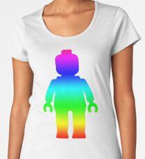 Minifig [Large Rainbow 1]  Women's Premium T-Shirt