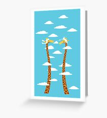 Love Giraffe in The Bright Clouds Greeting Card